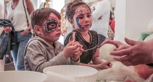 Filzwerkstatt für Kinder und Erwachsene